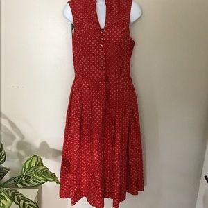Vintage Hasegg Trachen Red Dress Size 38